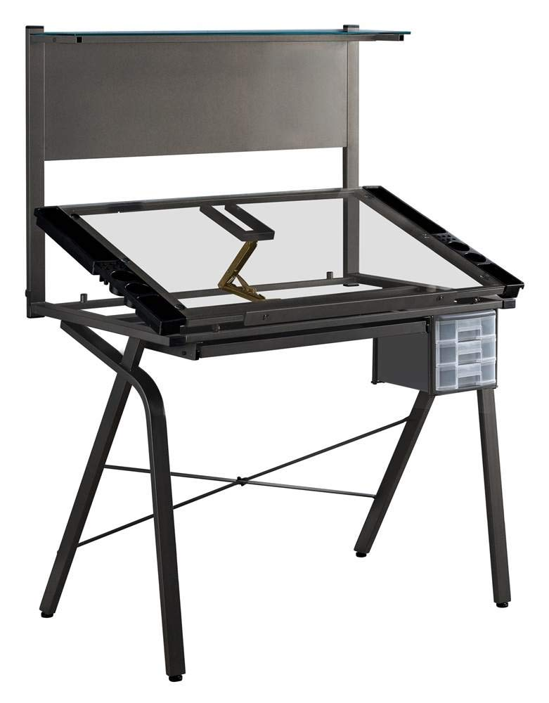 Monarch Specialties Adjustable Drafting Table, Rectangular, Black by Monarch Specialties