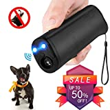 Vantax Handheld Dog Repellent & Trainer, Anti Barking Device with LED Flashlight, Ultrasonic Dog Deterrent and Bark Stopper + Dog Trainer Device