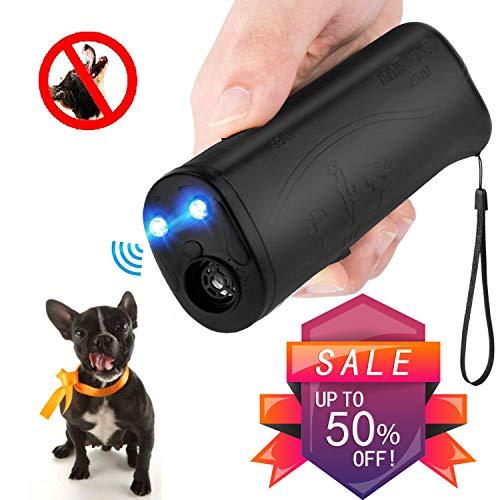 Vantax Handheld Dog Repellent & Trainer, Anti Barking Device with LED Flashlight, Ultrasonic Dog Deterrent and Bark Stopper + Dog Trainer Device