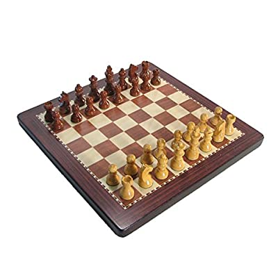 "8"" Rosewood Magnetic Analysis Chess Set with Case"