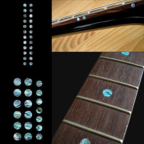 Fretboard Markers Inlay Sticker Decals for Guitar and Bass - Custom Dots Set-AB