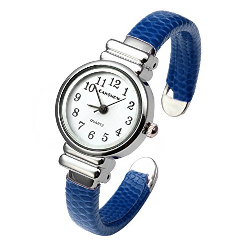 Top Plaza Kid's Girls Watch Women Chic Simple Bracelet Cuff Watch Gift, Blue