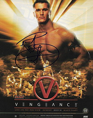 Randy Orton Wrestler REAL hand SIGNED Magazine Pin-up Photo WWE RAW COA