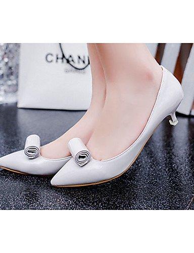 GGX/Damen Schuhe PU Sommer Spitz Zulaufender Zehenbereich/geschlossen Zehen Clogs & Pantoletten Kleid/Casual Kätzchen Ferse andere schwarz/ gray-us8 / eu39 / uk6 / cn39
