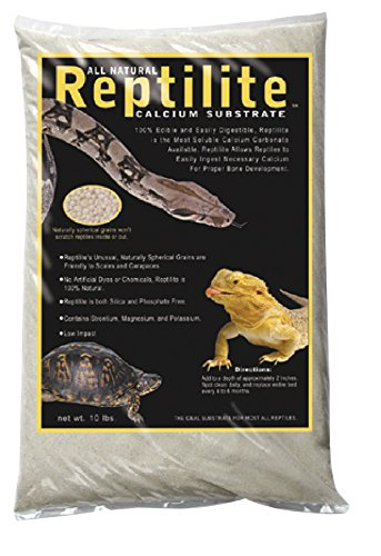 Carib Sea SCS00710 Reptiles Calcium Substrate Sand, 10-Pound, Natural White by Carib Sea