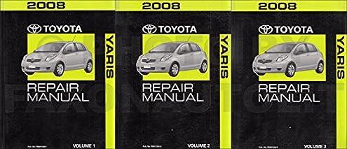 2008 toyota yaris repair service manual original set toyota amazon rh amazon com 2008 toyota yaris service manual pdf toyota yaris 2008 service repair manual