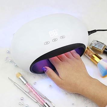 WLAY Secador De Uñas De Gel De Lámpara De Uñas UV De 48 Vatios para Uñas