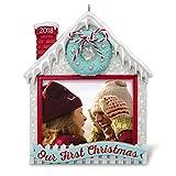 Hallmark Keepsake Christmas Ornament 2018 Year Dated, Our First Christmas Photo Holder