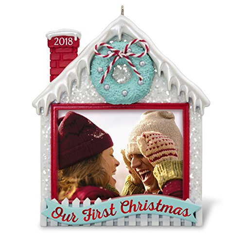Hallmark Keepsake Christmas Ornament 2018 Year Dated, Our First Christmas Together Picture Frame, Photo Frame, Personalized - First Christmas Frame Ornament