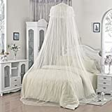 Generic White, Product Dscription : Summer Insect Prevention Elegant Round White Lace Bed Canopy Dome Mosquito Net P0