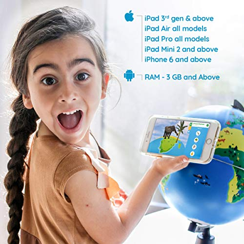 Shifu Orboot (App Based): The Educational, Augmented Reality Based Globe | STEM Toy for Boys & Girls Age 4 to 10 Years | Learning Toy Gift for Kids (No Borders and No Names on Globe) by Shifu (Image #6)