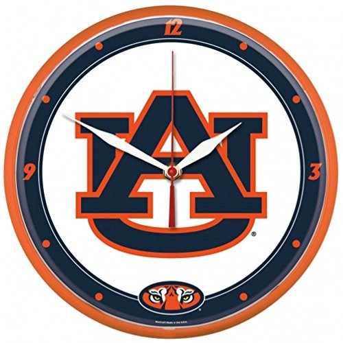 NCAA Auburn Tigers WinCraft Official Round Clock