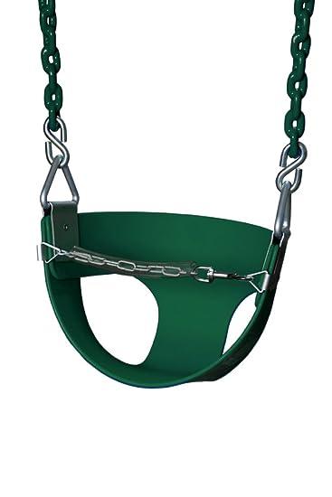 Gorilla Playsets Half Bucket Toddler Swing Color Green