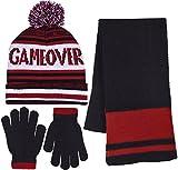 Polar Wear Boy's 3 Piece Knit Hat, Scarf & Gloves