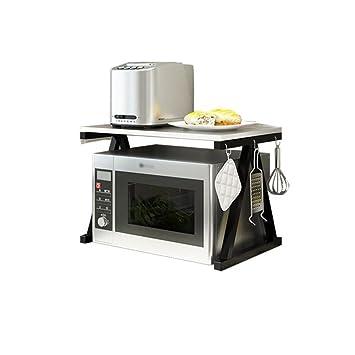 Cocina multifuncional para el hogar Horno de microondas Racks de 2 niveles con embutido incorporado Acero