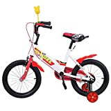 Ridgeyard 16 Inch Children Bike Child Bicycle Study Learning Riding Bike Boys Girls Bicycle with Stabilisers for 3-5 Years (Red)