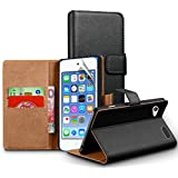 Apple Ipod Touch 6th Gen (6th Generation) Genuine Leather Case Wallet Pouch & Screen Protector + Cloth By Zonewire