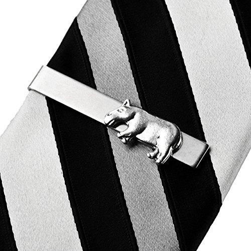 Quality Handcrafts Guaranteed Hippo Tie Clip