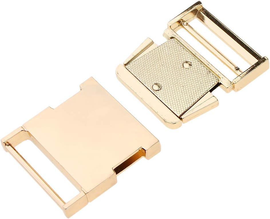 19mm Argento milageto Fermaglio con Fibbia per Cintura in Nastro Metallico