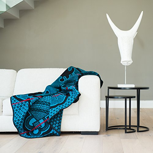 Price comparison product image BASOTHO HERITAGE BLANKET - (As seen in Black Panther) Kharetsa Aloe. (61x 65) Original Quality, Woolen wearing blankets from Lesotho, Southern Africa
