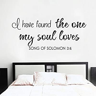 Romantic Wall Decal Love Saying Vinyl Love Wall Sticker Home Art Decor - I Have Found The One Whom My Soul Loves