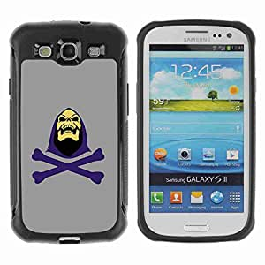 A-type Arte & diseño Anti-Slip Shockproof TPU Fundas Cover Cubre Case para Samsung Galaxy S3 III / i9300 / i717 ( Cool Skeletor Illustration )