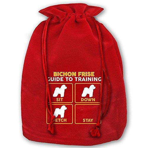 TTIWEP Bichon Frise Red Christmas Drawstring Bags/Santa's Trouser Bag