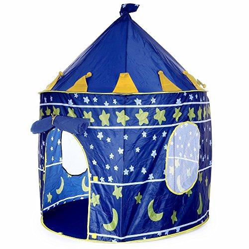 Tienda Campaña Infantil para Niños y Niñas Casa Castillo de Juego Plegable para Interior y Exterior (Azul): Amazon.es: Juguetes y juegos