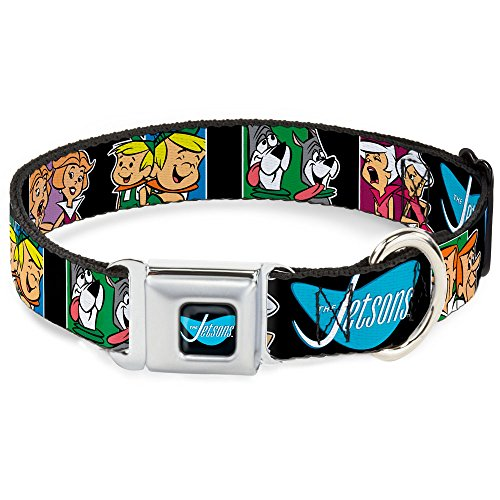 Buckle Down Seatbelt Buckle Dog Collar - THE JETSONS Character Panel Expressions - 1.5
