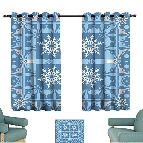 (Warm Family Polyester Curtain Damask Decorative Wallpaper for Walls for Living, Dining, Bedroom (Pair))