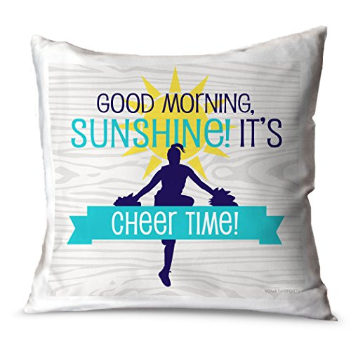 ChalkTalkSPORTS Cheerleading Throw Pillow Good Morning Sunsh