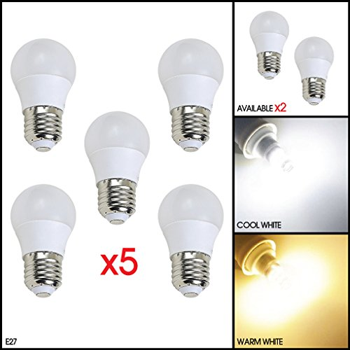 ce598ae6c28 5 Pack MSC 3 Watt 300 lumen E27 LED Bulb Edison Screw Cool Daylight White  Light Bulb 6500k (Not 4w 5w 6w 7w 8w 9w 10w GU10 E27 E27 E14) 3w - 35w ...