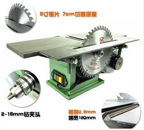 MXBAOHENG Bench Multifunctional Woodworking machine for Planing/ Sawing/ Drilling 220V