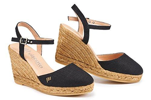 VISCATA Barcelona PeratalladaLinenBlack EU36 Linen Leather Footwear