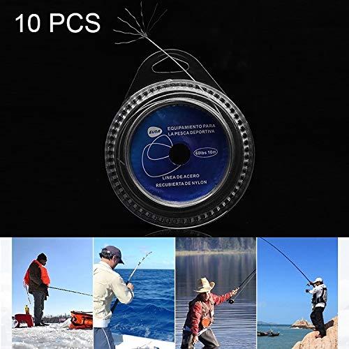 Lanlanmaoyimg 10 PCS Steel Braiding Fishing Line Sea Fishing Wire 10 LBS 7 Strands