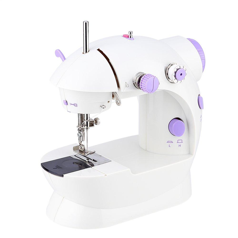 Uten Mini Electric Sewing Machine Portable Handheld Home Sewing Machine Kit for Women Kids Beginners