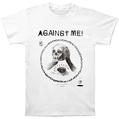 Against Me! -Skullhead Drawing T-Shirt Size S