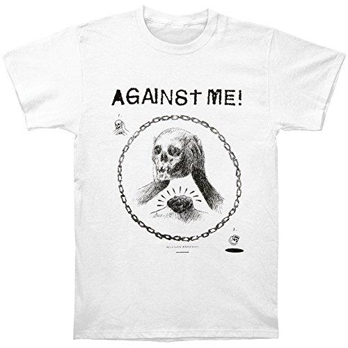 Against Me Men's Skullhead Drawing T-shirt White