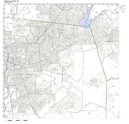 Rancho Cordova Zip Code Map.Amazon Com Rancho Cordova Ca Zip Code Map Laminated Home Kitchen