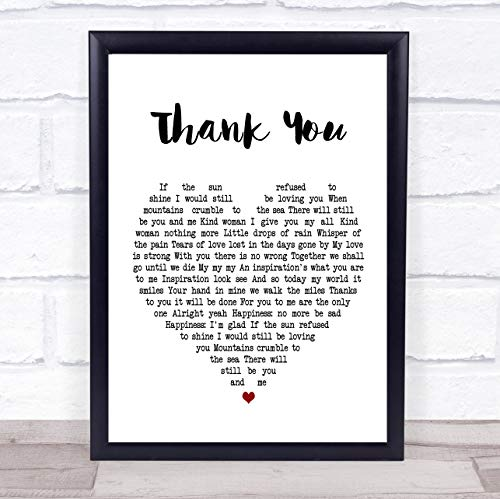 (Thank You Heart Song Lyric Quote Print)