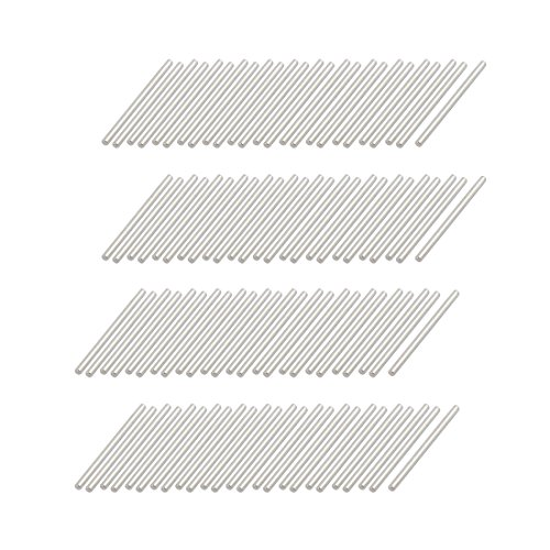 35mm Shaft - uxcell 100Pcs Round Shaft Solid Durable Steel Rods Axles 2mm x 35mm Silver Tone