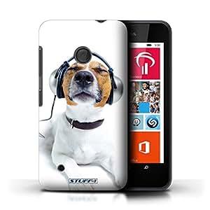Kobalt® protector duro de nuevo caso / cubierta para el Nokia Lumia 530 | Perro auriculares Chillin Diseño | Animales divertidos colección