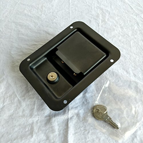 Kay Black Powder Coated Paddle Latch Truck Tool Box Doors Lock 5.50