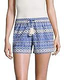 Love Sam Womens Stripe Shifli Embroidered Short, S