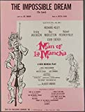THE IMPOSSIBLE DREAM Man of La Mancha DARION & LEIGH Theatre Sheet Music 1965
