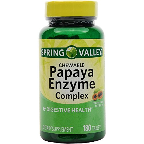 Cheap Spring Valley – Papaya Enzyme, 180 Chewable Tablets