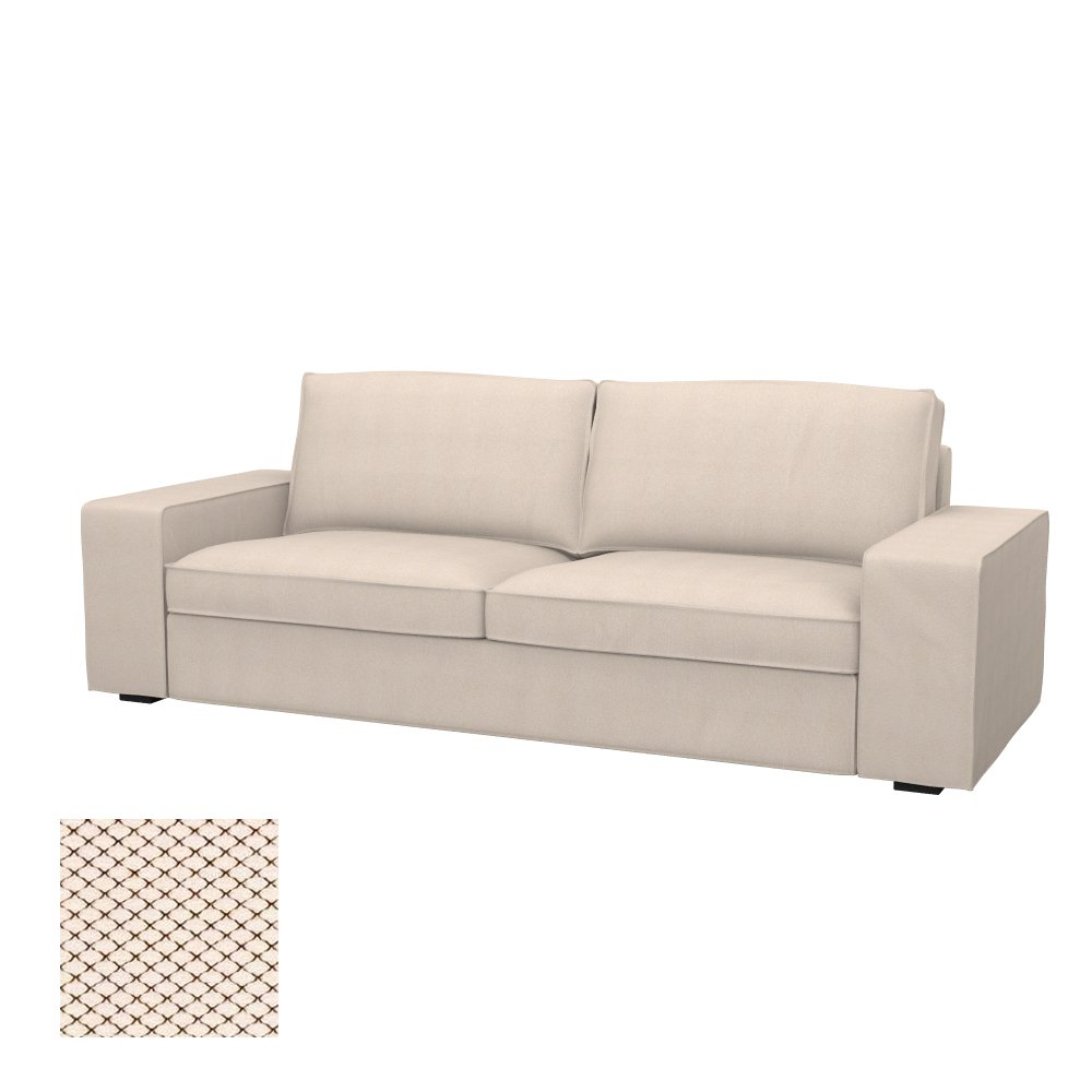 soferia – Ikea Kivik 3-seat sofa-bedカバー、北欧Creme   B01N81ADI6