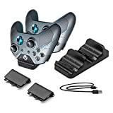 Hongye Xbox One Charger Dual Dock Charging Station with 2 Battery Packs and USB Charging Cable for Xbox One Wireless Controller(Black) For Sale