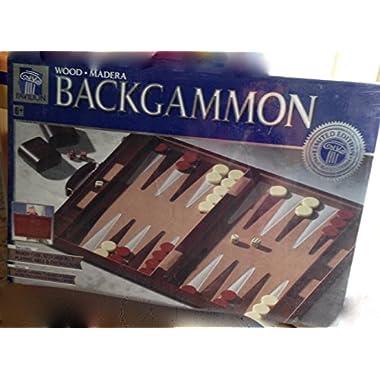 14.75  Recreational Board Game Vinyl Backgammon Set - Brown & White