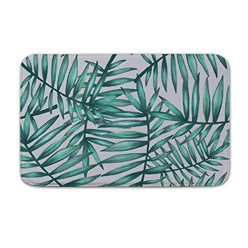 - DKISEE Indoor Outdoor Entrance Rug Floor Mat Bathmat Palmetto Seamless Pattern Doormat, 20